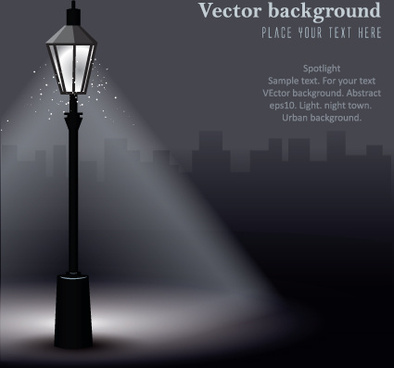 set of lighting on the street design vector