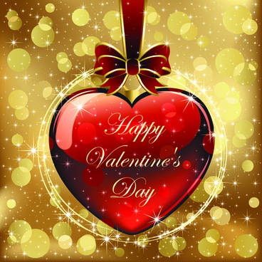 set of luxurious valentine cards vector