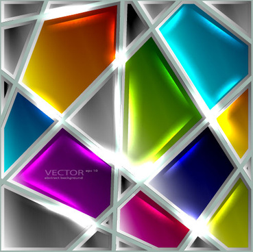 set of luxury glass background vector