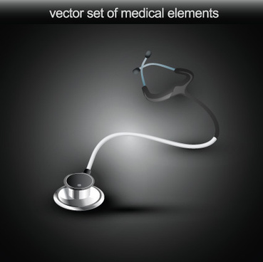 set of medical elements vector graphics