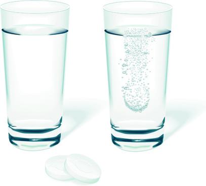 set of medicines elements vector graphics