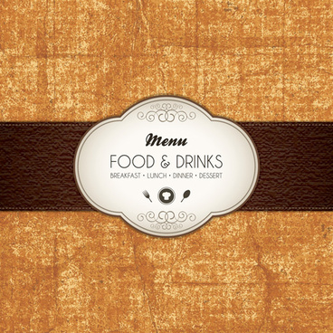 set of menu cover design vector