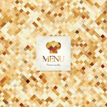 set of menu cover design vector