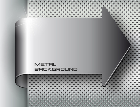 set of metal elements vector background art