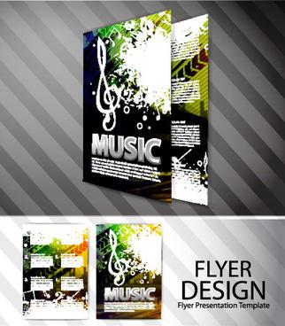 set of modern brochure and flyer design elements vector