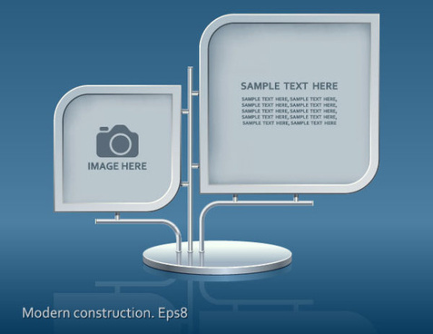 set of modern construction signboard vector