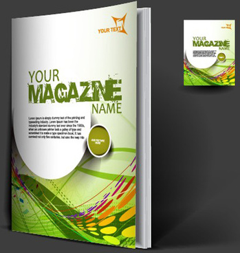 set of modern magazine cover design vector