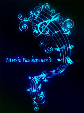 set of musical backgrounds vector graphic