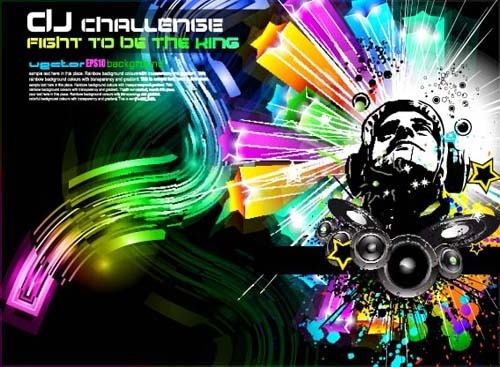 set of musical event flyer backgrounds vector