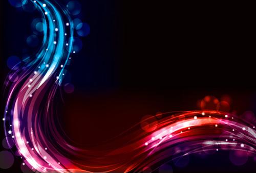 set of neon spectrum design vector background