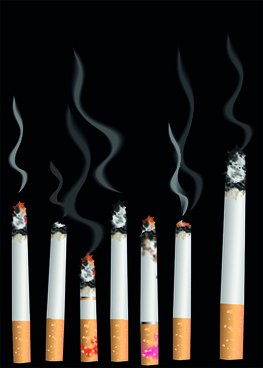 set of no smoking design elements vector