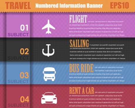 set of number of information banner vector graphic