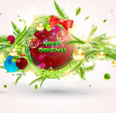 set of object christmas backgrounds vector