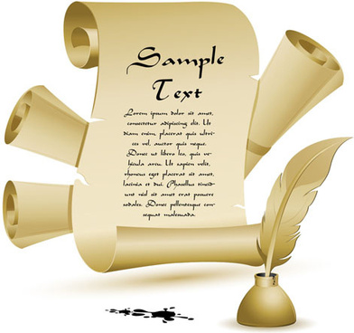 Old style scroll banner free vector download 22105 free vector set of old parchment scrolls vector spiritdancerdesigns