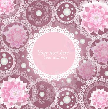 set of ornate floral background vector