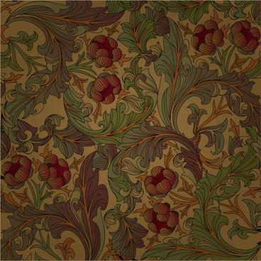 set of ornate floral patterns vector