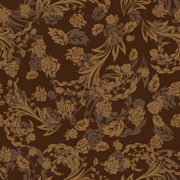 set of ornate floral patterns vector