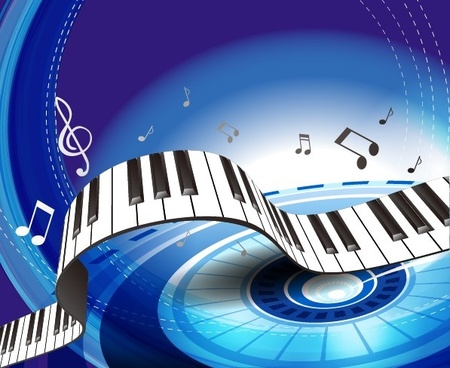 Set Of Piano Backgrounds Vector Graphics