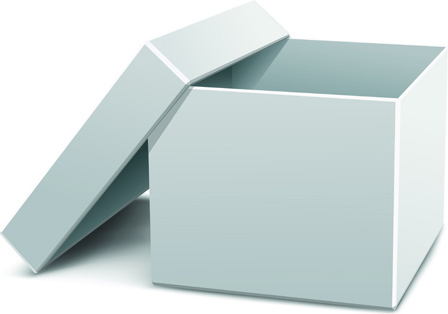 set of pizza boxes design elements vector