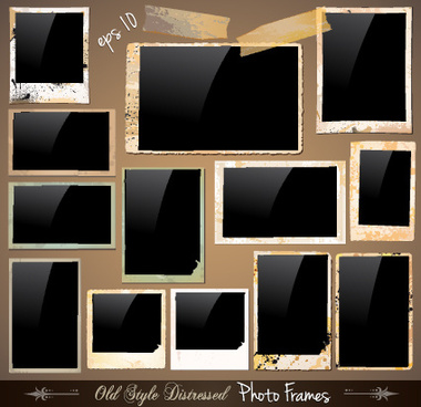 set of polaroid photo frames vector