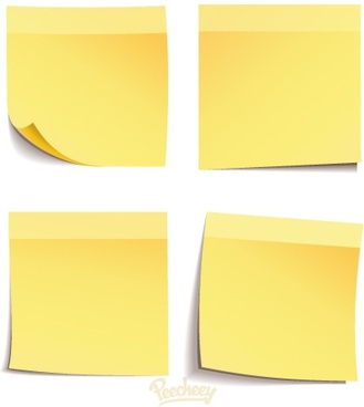 set of post it messages templates