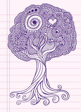 set of pretty floral ornaments design vector