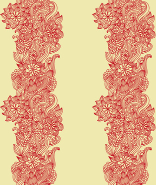 set of pretty floral ornaments design vector