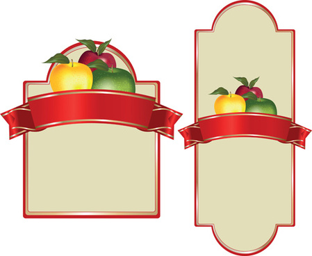 set of products labels templates vector