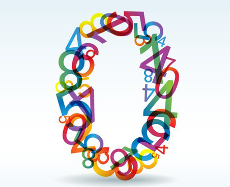set of rainbow numbers elements vector