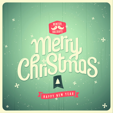 set of retro christmas and new year backgrounds vector
