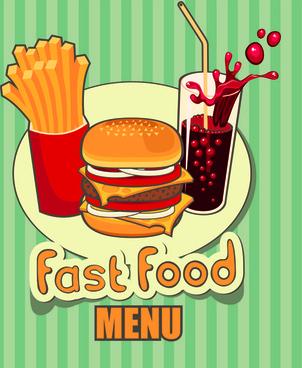 set of retro cover menu cafe and restaurant vector