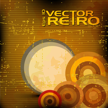 set of retro grunge background vector