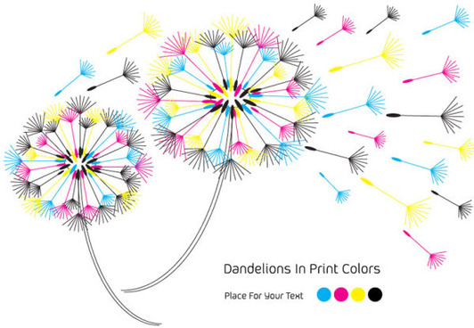 set of rgb color elements vector