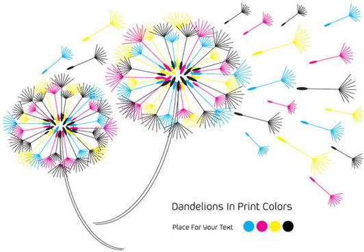 set of rgb color elements vector