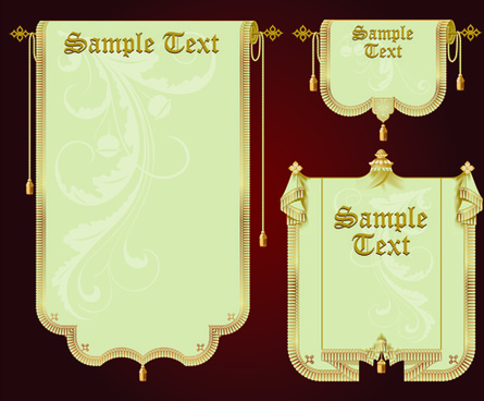 set of royal banner design vector