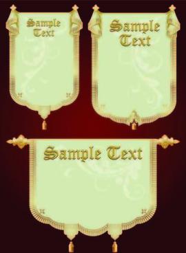 set of royal banner design vector