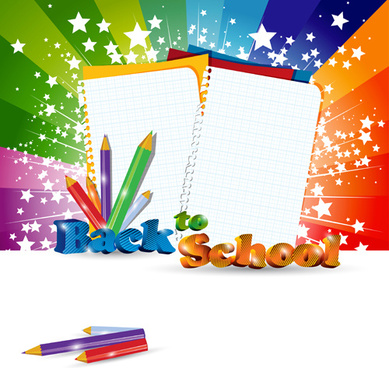 set of school supplies elements vector
