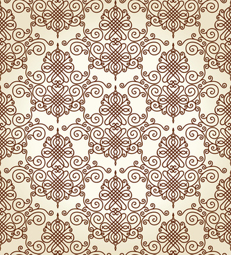 set of seamless ornament pattern design vector