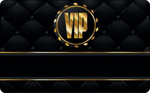 set of senior vip cards design vector