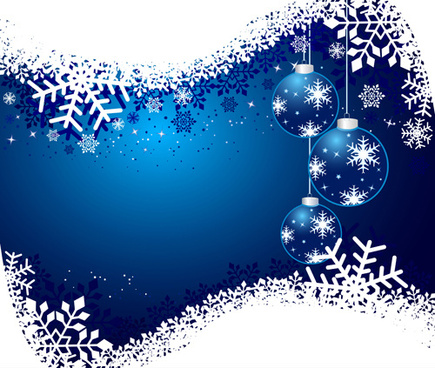 set of shiny snowflakes background art vector