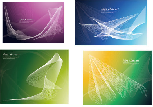 set of smoke style cards vector