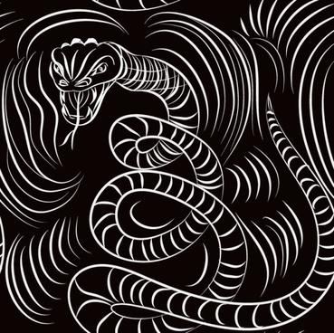 set of snake texture pattern vector