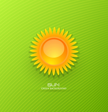 set of sunny day vector background