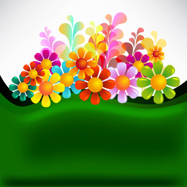 set of texture flower vector backgrounds art