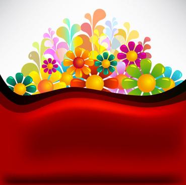 set of texture flower vector backgrounds art