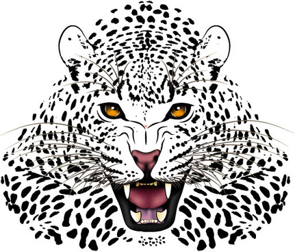 set of tiger vector picture art