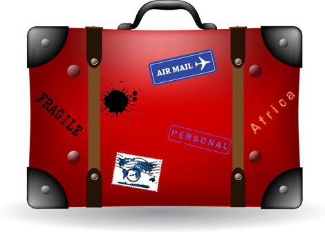 set of travel bags illustration vector