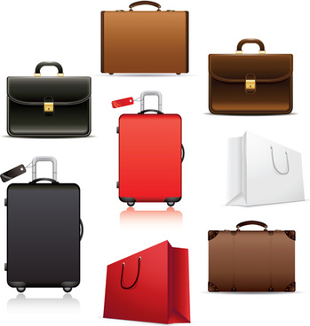 set of travel bags illustration vector