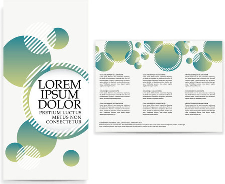 set of tri fold business brochure cover vector