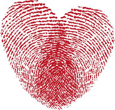 set of unusual heart design elements vector